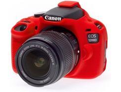 Capa de silicone EASYCOVER Canon 1200D Vermelho