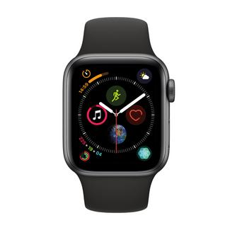 Apple Watch Series 4 44mm – Alumínio Cinzento | Bracelete Desportiva – Preto