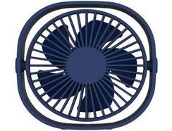 Ventoinha QUSHINI Mini Desk Fan em Azul