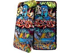 Capa e Película iPhone 6, 6s I-PAINT Grafitti Multicor