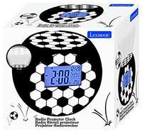 Rádio Despertador LEXIBOOK Football RL975FO (Branco / Preto – Digital – Função Snooze – Pilhas)