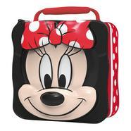 Mala porta-alimentos infantil Minnie Disney Vermelho