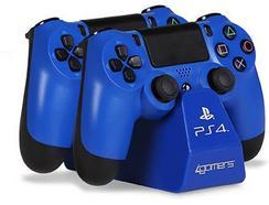 Estação de Carregamento PS4 4GAMERS Twin Play n' Charge Azul