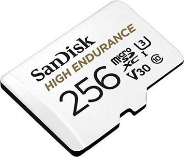 Cartão de Memória MicroSDXC SANDISK High Endurance (256 GB – 100MB/s)