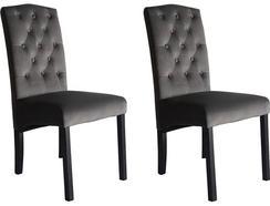 Conjunto de 2 Cadeiras CSD Finesse Veludo Cinzento
