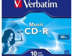 CD-R VERBATIM AUDIO 80MIN MUSIC LIFE PLUS JEWEL CASE 10