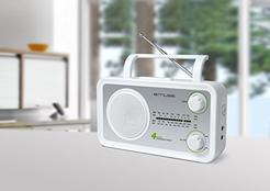 Rádio Portátil MUSE M-05SW (Prateado / Branco – Analógico – FM/MW/SW/LW – Pilhas)