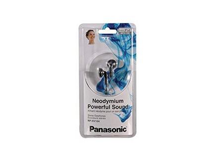 Auriculares Com fio PANASONIC RP-HV104E (In Ear – Preto)
