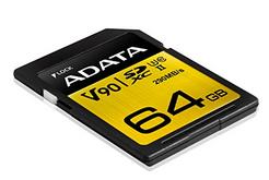 Cartão de Memória SD ADATA Premier ONE SDXC UHS-II U3 Class 10 64GB