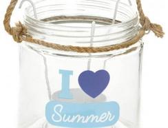 Porta-velas ITEM INTERNATNL Pvelas Love Summer