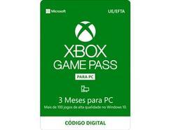 Cartão XBOX Gamepass PC 3 Meses (Formato Digital)