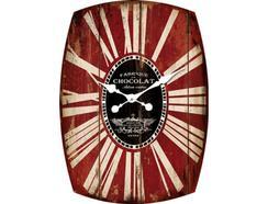 Relógio Parede BHP B991061 Romano Vermelho