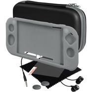 Kit Capa de Silicone + Protetor de Ecrã + Auscultadores BLACKFIRE para Nintendo Switch Lite (Cinzento)