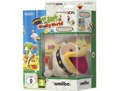 Jogo Nintendo 3DS Poochy Yoshi's Woolly World + Figura Amiibo Poochy Lã
