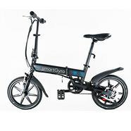 Bicicleta Elétrica SMARTGYRO E-Bike Preta (Autonomia: 30 a 50 km / Velocidade Máx: 25 km/h)