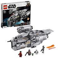 LEGO Star Wars The Mandalorian Bounty Hunter Transport Starship Toy with The Child Minifigure