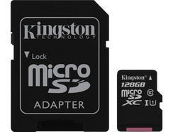 Cartão de Memória microSD KINGSTON 128 GB 80R CL10 U