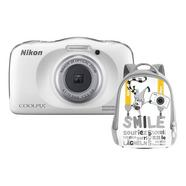 Kit Máquina Fotográfica Compacta NIKON Coolpix W150 + Mochila (Branco – 13.2 MP – ISO: 125 a 1600 – Zoom Ótico: 3x)