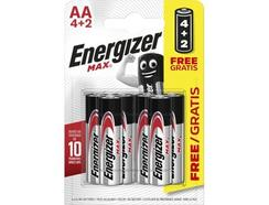 Pilhas ENERGIZER Max Alk AA BP6 4+2