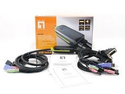 Switch LevelOne KVM-0260 2 Portas, DVI, USB, Audio