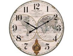 Relógio Parede BHP B991434 Mapa Mundo