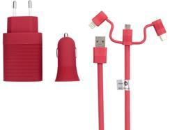 Kit Carregamento MUVIT MLPAK0028 Vermelho