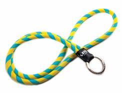 Fita Porta-Chaves O. LANYARDS Leis Classic Amarelo e Azul