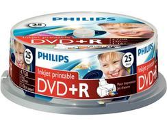DVD+R PHILIPS 4,7GB 16x Printable mate Cakebox (25 unidades)