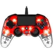 Comando Wired Compact Controller Iluminado Vermelho Transparente – PS4