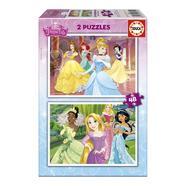 2 puzzles Princesas Disney