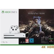 Consola Microsoft Xbox One S 1TB + Middle-Earth: Shadows of War