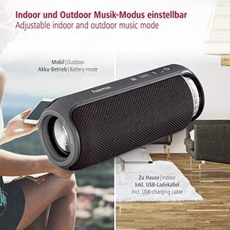 Mini Coluna Bluetooth HAMA 173163 (Preto – 24 W – Autonomia: 12 horas – Alcance: 10 metros)