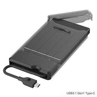 Caixa Externa ElecGear para discos 2.5″ USB-C Preto