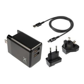 Carregador Viagem Xtorm 2x USB + Cabo USB – USB-C