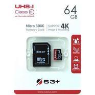 Cartão de memória S3+ Micro SDHC Class 10 – 64GB