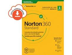 Software NORTON 360 Standard 10GB (1 Dispositivo – 1 Ano – Smartphone, PC e Tablet – Formato Digital)