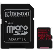 Cartão de Memória microSDXC KINGSTON Canvas React (256 GB – 100 Mb/s – SD)