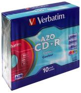 Verbatim CD-R AZO Colours CD-R 700MB 10peça(s)