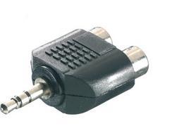 Adaptador VIVANCO Jack 3.5mm a 2Rca