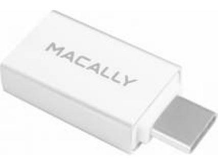 Adaptador MACALLY USB-C para USB A em Branco