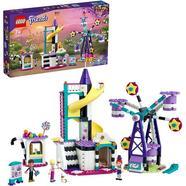 Mundo da Magia: Roda Gigante e Deslizante Parque de Diversões de Brinquedos para Meninos e Meninas +7 Anos com Mini Boneca LEGO Friends