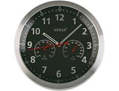 Relógio Parede VERSA Alumínio Preto 35 cm