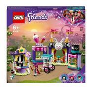 Mundo da Magia: Barracas de Feira Parque de Diversões de Brinquedos para Meninos e Meninas +6 Anos com Mini Bonecas LEGO Friends
