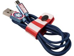 Cabo TRIBE Marvel Micro-USB Captain America