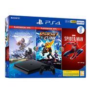 Consola PS4 + Horizon Zero Dawn + Ratchet & Clank + Spider-man (500 GB – Preto)
