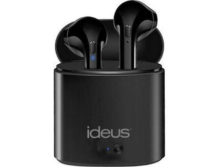 Auriculares Bluetooth True Wireless IDEUS SFW17 (In Ear – Microfone – Preto)