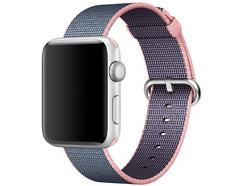 Apple Bracelete Nylon para Apple Watch 42mm (Rosa Claro/Azul Meia Noite)