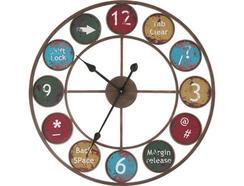 Relógio Parede BHP B990934 Retro Colors