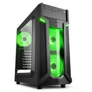 Caixa Sharkoon VG6-W Preta/Verde