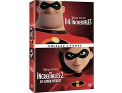 DVD Incredibles 1 + The Incredibles 2: Os Super-Heróis